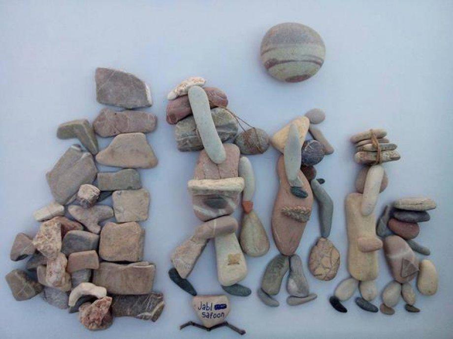 Çakıl taşlarıyla Suriye dramı