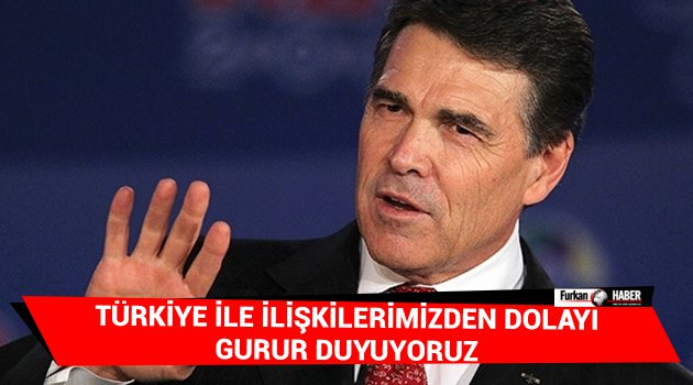 ABD: Türkiye ile ilişkilerimizden dolayı gurur duyuyoruz