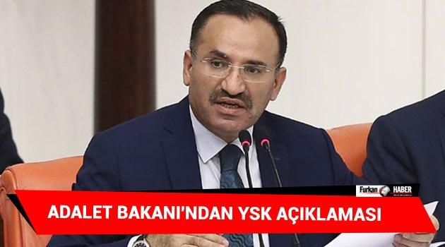 Adalet Bakanı'ndan YSK açıklaması