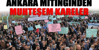 Ankara Mitinginden Muhteşem Kareler