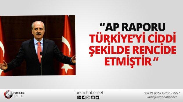 """""""AP raporu Türkiye'yi ciddi şekilde rencide etmiştir"""""""