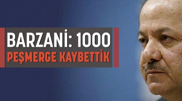 Barzani: 1000 Peşmerge kaybettik