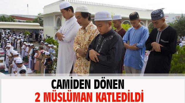 Camiden dönen 2 Müslüman katledildi