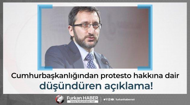 Cumhurbaşkanlığı: Ülkemizde protesto hakkı, anayasal koruma altındadır