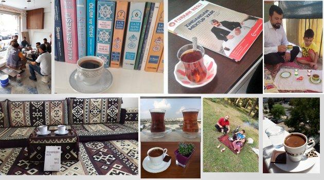 #MazlumlarınUmudu Alparslan Kuytul Hocaefendi ile Aynı Saatte Çay-Kahve İçme Etkinliği Devam Ediyor