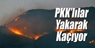 PKK'lılar Yakarak Kaçtı