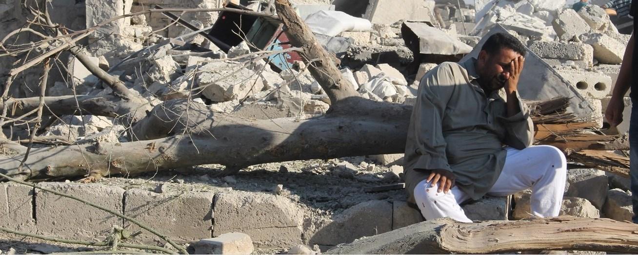 Telefonla Görüşülen Halepli: Burada halk çok kötü durumda