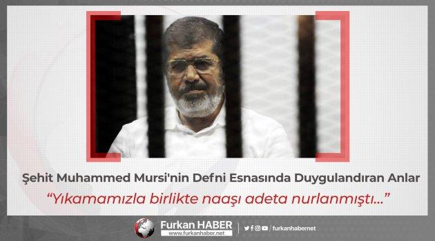 Şehit Muhammed Mursi'nin defni esnasında duygulandıran anlar