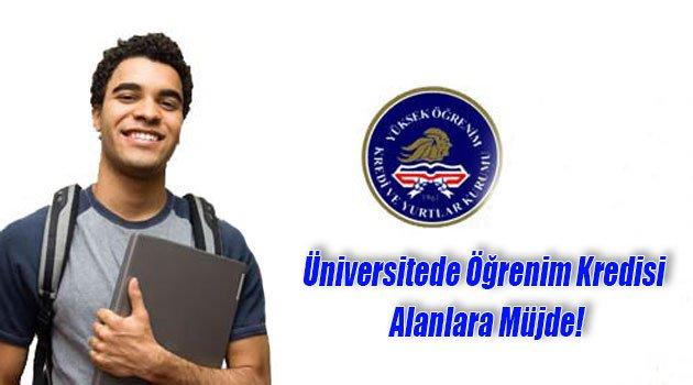 Üniversitede Öğrenim Kredisi Alanlara Müjde!