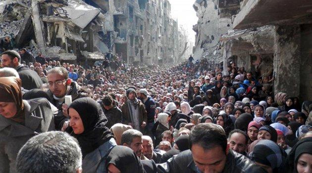 Zalim Esad rejimi 550 binden fazla sivili yerinden etti