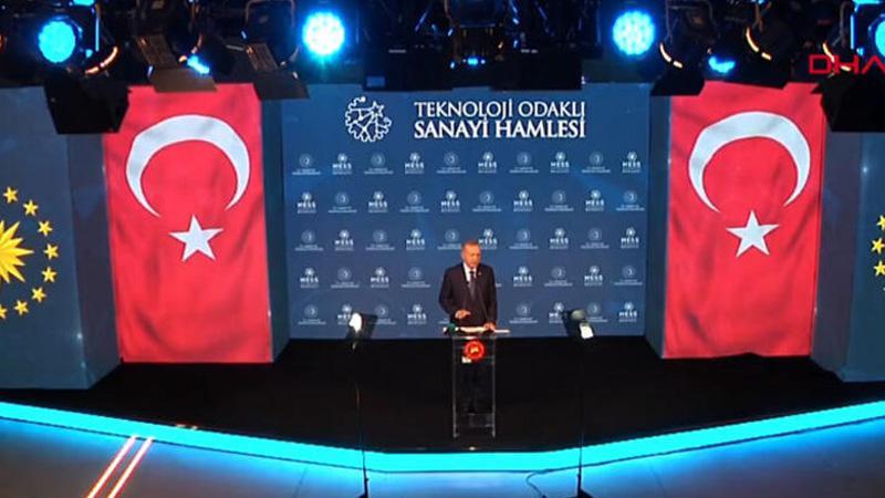 Erdoğan: Türkiye'yi küresel bir üretim ve teknoloji üssü haline getirmekte kararlıyız