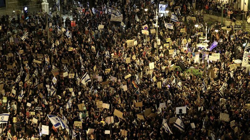 Siyonist Netanyahu karşıtı gösteriler sürüyor