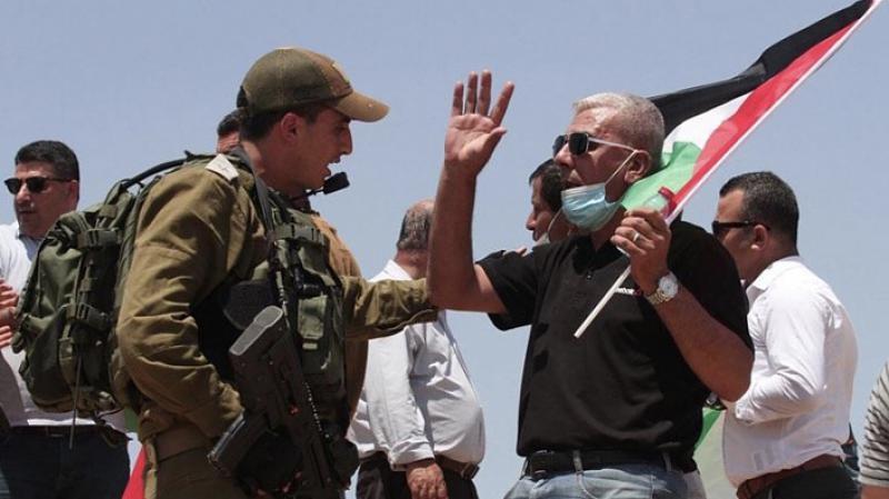 Filistinliler işgalci İsrail'in ilhak planını protesto etti