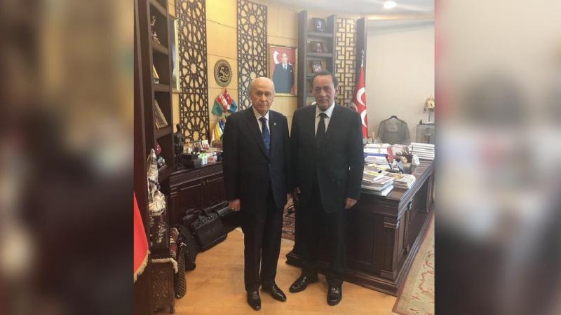 Alaattin Çakıcı'dan Bahçeli'ye MHP Genel Merkezi'nde ziyaret