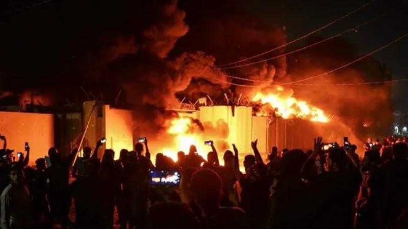 Irak'ta İran Başkonsolosluğu ateşe verildi