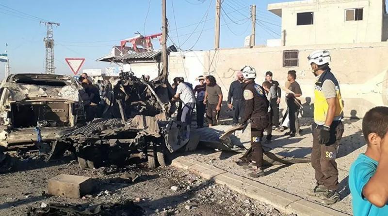 Azez'de Bomba Yüklü Araç Saldırısı