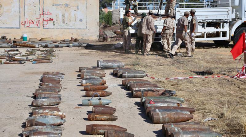 Libya'da 10 Ton Patlayıcı İmha Edildi