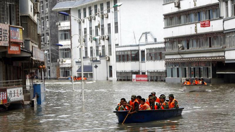 Çin'de Şiddetli Yağış ve Seller Nedeniyle 228 Bin Kişi Tahliye Edildi