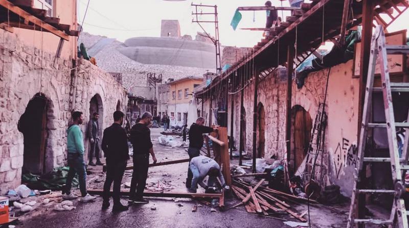 Hasankeyf Çarşısı Boşaltıldı