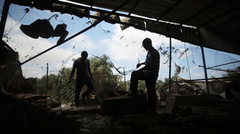 İşgal Yönetiminden Gazze'ye Hava Saldırısı