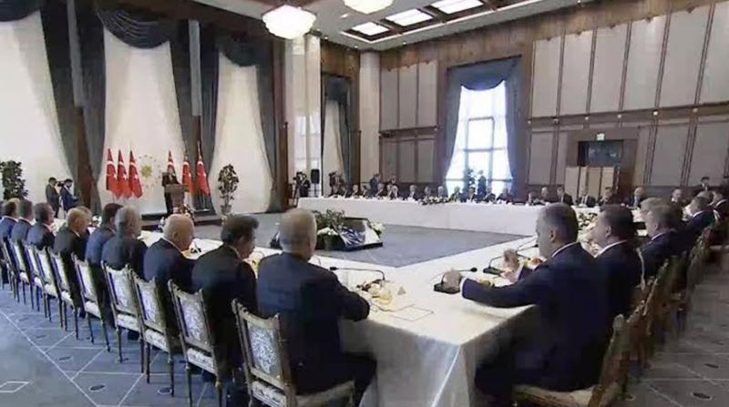 Erdoğan Başkanlarla Bir Araya Geldi