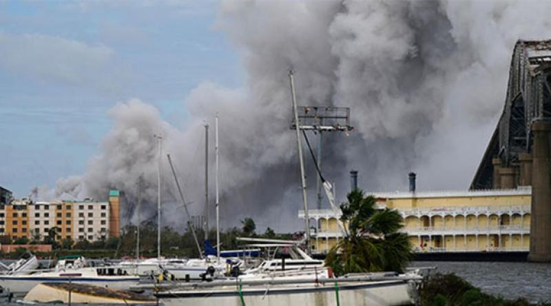 ABD'de kasırga sonrası kimya tesisinde yangın