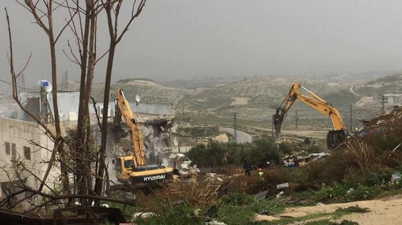 Siyonist İsrail güçlerinin yıkım zulmü devam ediyor