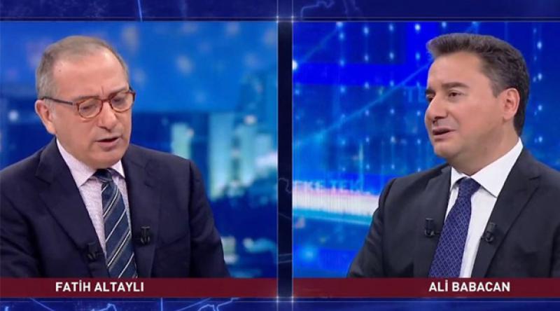 Ali Babacan: Türkiye'de korku siyaseti çaresizlikten yapılan bir şey. Korku siyaseti ülkeleri ileriye taşıyamaz