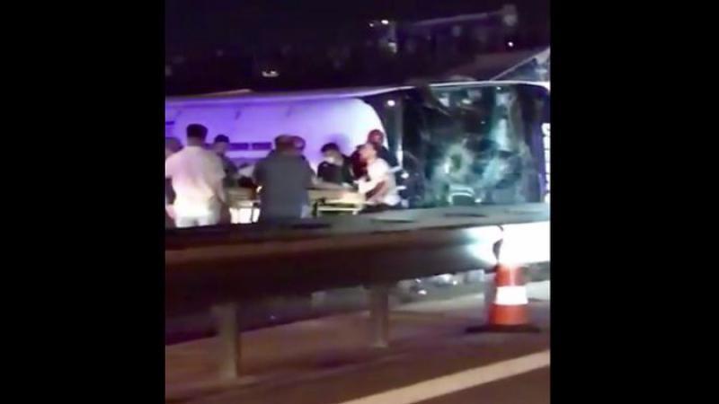 TEM'de Metro Turizm'e ait otobüs devrildi: Çok sayıda yaralı