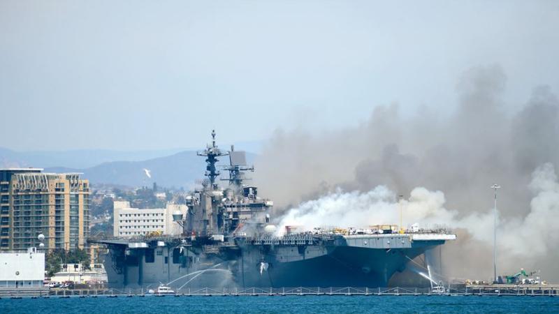 ABD savaş gemisinde yangın; en az 21 kişi yaralandı