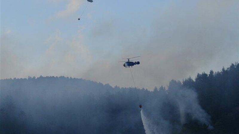 Çanakkale'deki orman yangını saatlerdir söndürülemiyor