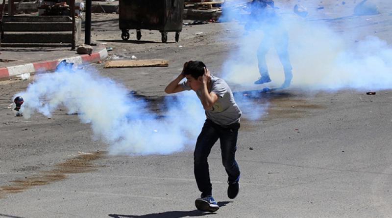 Siyonist İsrail askerlerinin Batı Şeria'daki gösteriye müdahalesinde 32 yaralı
