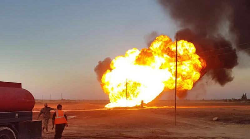 Suriye'de doğal gaz boru hattında patlama