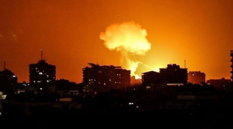 İşgalci İsrail yine Gazze'yi vurdu