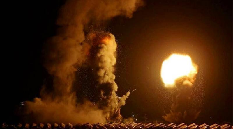 İşgalci İsrail Gazze'yi üçüncü kez vurdu