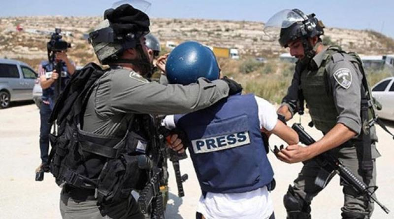Filistinli gazetecilere İsrail zulmü