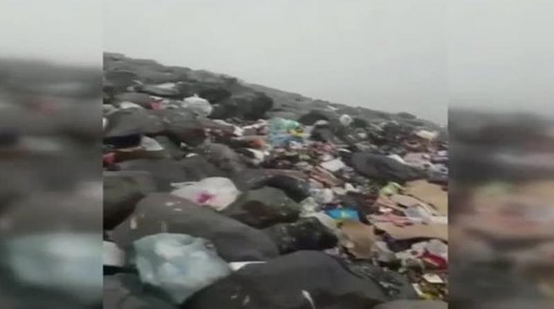 Ağrı Dağı'nın hali pes dedirtti! Kampçıların bıraktığı çöpler....