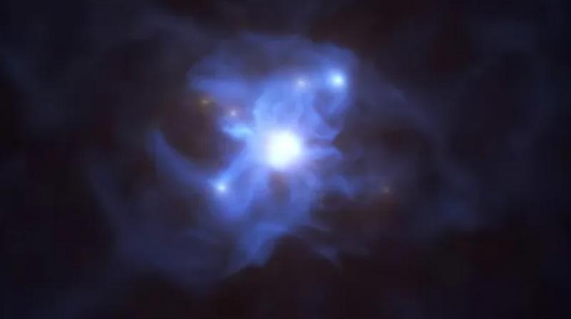 Kozmik 'örümcek ağı'nın merkezinde süper kütleli kara delik keşfedildi