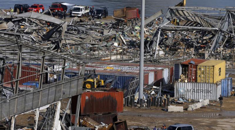 Beyrut Limanı patlamadan bir hafta sonra kısmi olarak faaliyete başladı