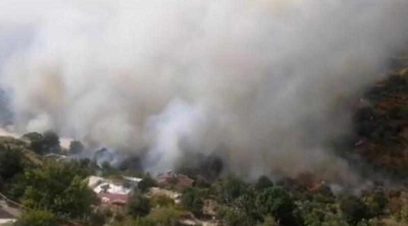 Mersin'deki yangın yerleşim yerlerini tehdit ediyor