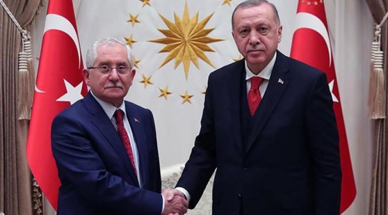 Cumhurbaşkanı Erdoğan, YSK Başkanı Güven'le görüştü