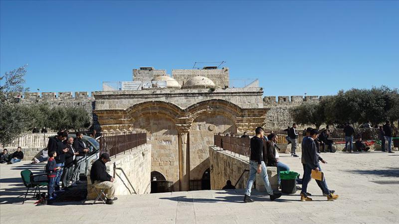 Filistin'den işgalci İsrail'in Rahmet Kapısı Mescidi'ni kapatma kararına kınama