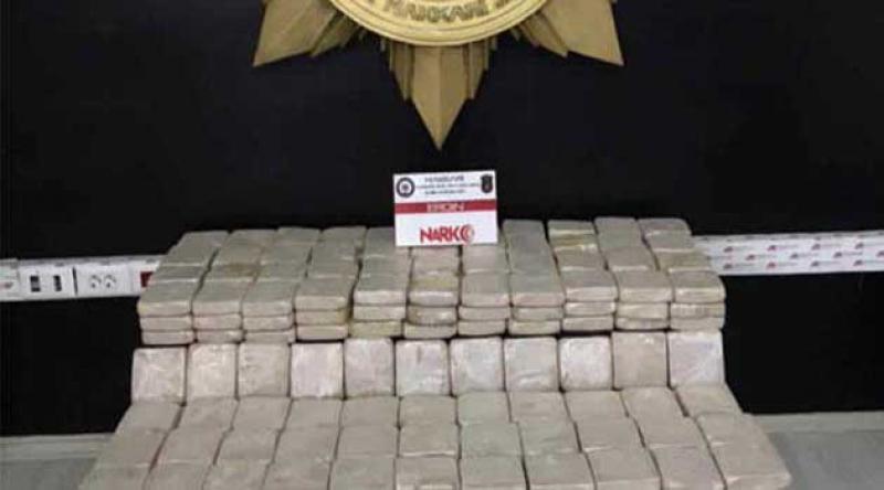 Hakkari'de 159 kilo 566 gram uyuşturucu ele geçirildi