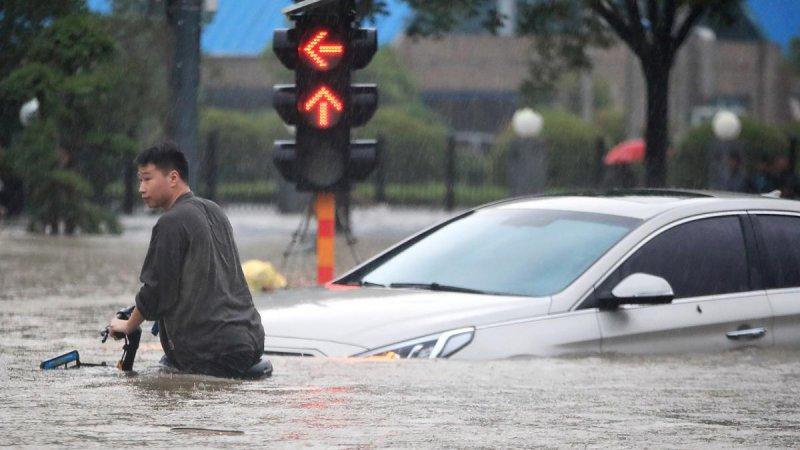 Çin'deki sel felaketi: Hayatını kaybedenlerin sayısı 60'ı geçti