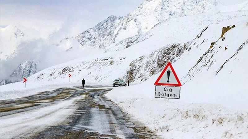 Meteoroloji'den doğu kesimleri için çığ uyarısı