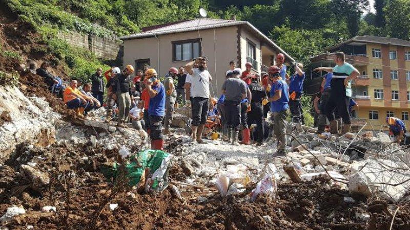 Rize'deki sel ve heyelanda 47 bina yıkıldı, 99 binada ağır hasar var
