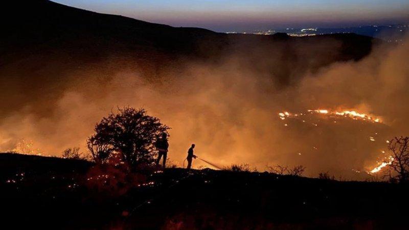 Elazığ'daki yangın yeniden alevlendi