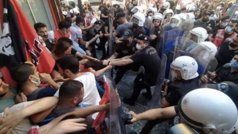 Suruç eylemlerine polis müdahalesi