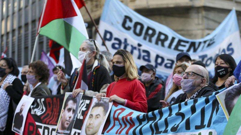 Arjantin'de Filistinli tutuklularla dayanışma gösterisi