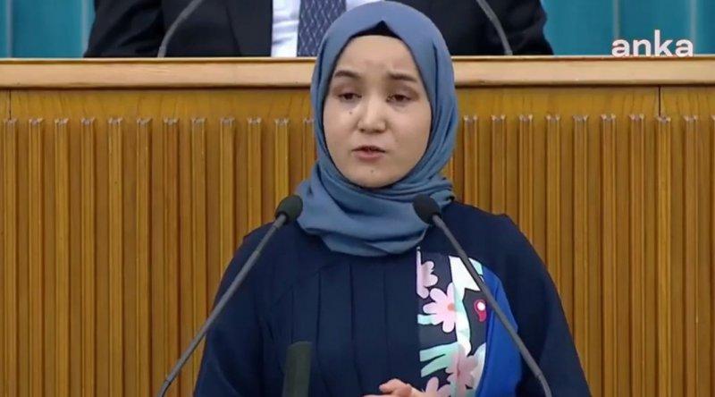 Akşener, Doğu Türkistanlı kadını kürsüye çağırdı; TBMM TV yayından çıktı